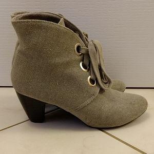 Grey booties - Women's Size 9